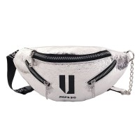 READY STOK JT119-silver Tas Waistbag Wanita Lucu Kekinian Import
