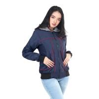 Jaket / Outer Wanita Fashion Biru Navy Taslan INF 258