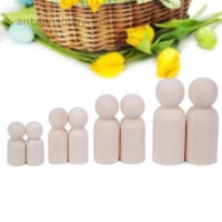 Nude Wooden Peg Doll Bodies People Shapes Painting Art Craft Kids