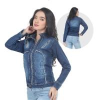 Jaket / Outer Wanita Fashion Biru Jeans Denim INF 130