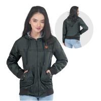 Jaket / Outer Wanita Fashion Hijau Olive Despo INF 615