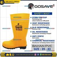 Sepatu Boot Rubber Safety Gosave Sparta Karet Ujung Besi Steel Toe