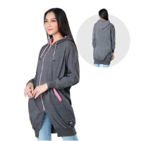 Jaket / Outer Wanita Fashion Abu Baby Terry INF 794