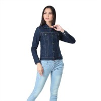 Jaket / Outer Wanita Fashion Biru Navy Jeans Denim INF 989