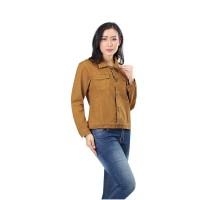 Jaket / Outer Wanita Fashion Coklat Jeans INF 742