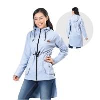 Jaket / Outer Wanita Fashion Abu Drill INF 275