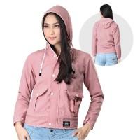 Jaket / Outer Wanita Fashion Pink Salem Baby Canvas INF 343