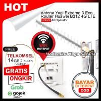 Paket Antena Yagi Extreme 3 + Home Router Huawei B312 4G LTE WiFi