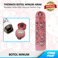 Botol Minum Termos Anak Hello Kitty Botol Thermos Stainless Button C02