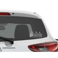 Sticker Mobil Motor Brompton Accesories Decal Vinyl ShinnShana