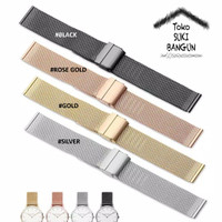 20mm Tali Jam Rantai Mesh Bracelet Stainless Steel Watch Strap Band