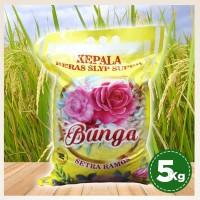 Beras Setra Ramos Cap Bunga 5kg Beras Pulen Sedang Kualitas Super