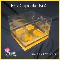 Box Mika Cupcake isi 4 (Gold) Uk 17 x 17 x T12 cm