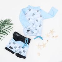 Baju Renang Bayi Anak Laki Laki Perempuan UV Protection KIDDIE SPLASH - Blue Star, XS