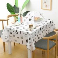 Dining Waterproof Table Cover / Taplak Meja Makan Anti Air Bahan PEVA