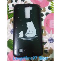 Softcase Jelly Case Handphone LG K10 Full Hitam Motif Gambar