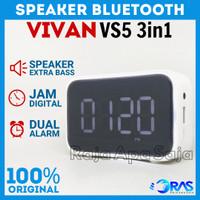 SPEAKER BLUETOOTH 3in1 Jam Digital Alarm Spiker Wireless VIVAN VS5 ORI