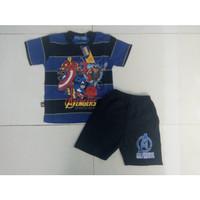 Setelan Kaos Harian Anak anak 4 - 5 - 6 Tahun - Domino