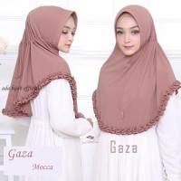 Jilbab Serut GAZA / Hijab Instan Pet Antem / Khimar Rempel kriwil