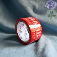 Lakban Fragile Jangan di Banting Merah Star Tape 48mmx50m