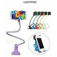 Lazypod jepit besi untuk HP smartphone holder stand narsis flexible