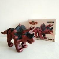 Mainan Dinosaur World Dinosaurus Triceratops Bersuara dan Bergerak