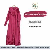 Mukena Abaya Royale Premium - Maroon