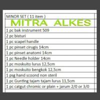 Minor set 11 item. Set minor 11 items. Alat operasi. Alat Bedah Minor.