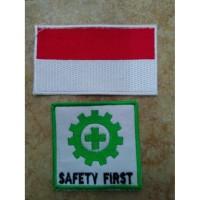 logo k3 dan bendera atau logo safety emblem safety