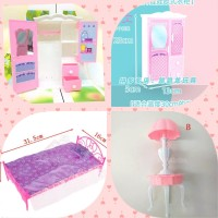 mainan lemari//tempat tidur Barbie
