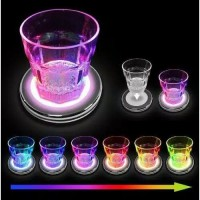 gelas LED warna nyala / gelas unik warna / botol gelas piring sendok