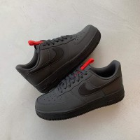 "Sepatu Nike Air Force 1 07 Anthracite ""Black University"""