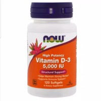 Now foods Vitamin D3 5000IU D-3 5000 IU high potency isi 120 softgel