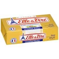ELLE AND VIRE UNSALTED BUTTER 200GR