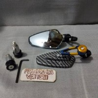 New !! SPION JALU OVAL CARBON TWOTONE MODEL RIDE IT AEROX NMAX LEXI BE