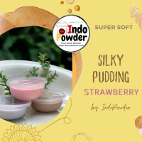 SILKY PUDDING STRAWBERRY 1Kg - BUBUK Silky Puding 1Kg - Puding Sutra