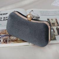 READY STOK JT00105-darkgray Clutch Bag Pesta Elegan Import Terbaru