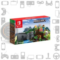 Nintendo Switch Grey V1 Bundle Minecraft