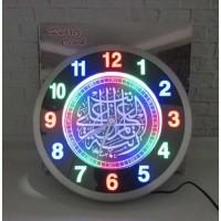 Jam Dinding - Kaligrafi LED Digital Stainless