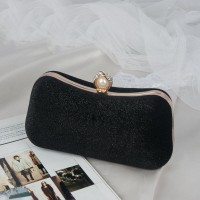 READY STOK JT00105-black Clutch Bag Pesta Elegan Import Terbaru