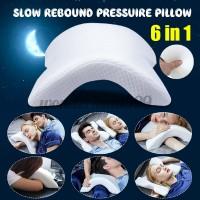 Anti-pressur 6 in1 Arm pillow Memory Couple Hug Cotton Ice Silk Pill
