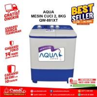 MESIN CUCI 2 TABUNG AQUA - QW-881XT - PROMO