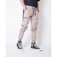 Celana Indie Bandung - Jogger List Premium Mocca