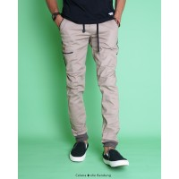Celana Indie Bandung - Jogger list Army Mocca