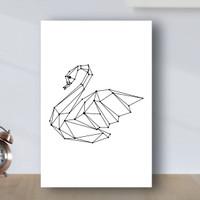 Poster Minimalist Geometric Angsa - Poster Kayu MDF