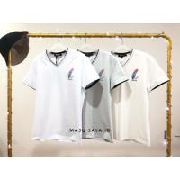 kaos dewasa u-neck import leaf (t-shirt) - M, grey