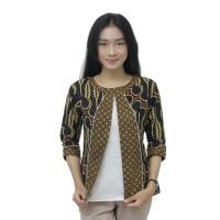 Atasan Wanita Blouse Batik Modern - Batik Kerja Wanita Model Bolero