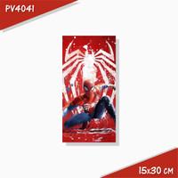 Poster Hiasan Dinding Panel Kayu Seri Spiderman 15x30 cm Koleksi 3