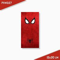 Poster Hiasan Dinding Panel Kayu Seri Spiderman 15x30 cm Koleksi 2