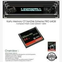 Memory CF Sandisk Extreme Pro 64GB Compact Flash Card UDMA7 160M